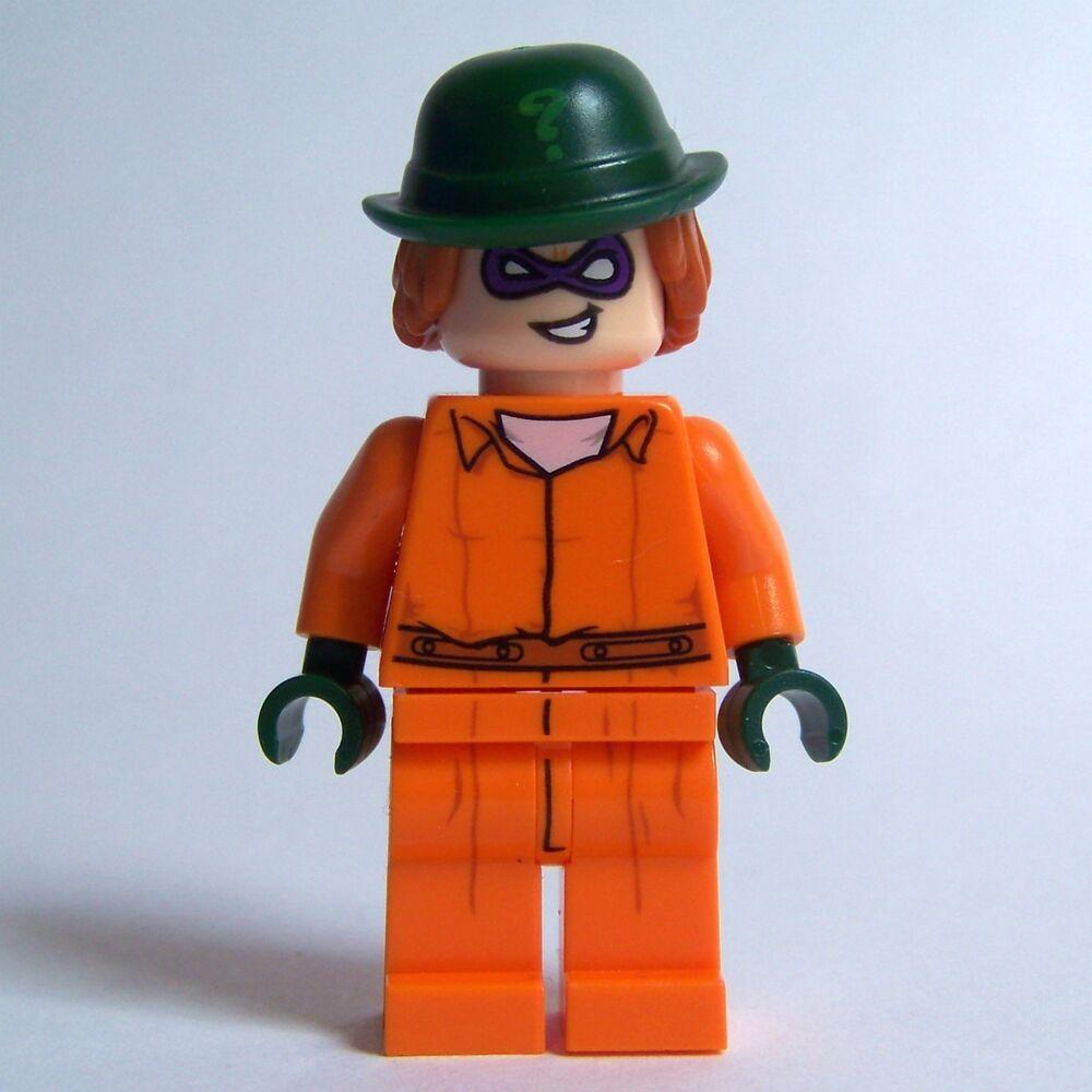 LEGO Batman Movie The RIDDLER minifigure prison jumpsuit