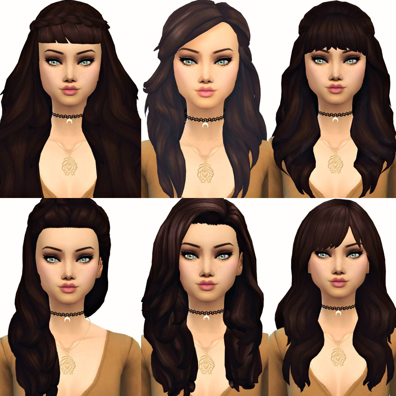 Current Favourite Maxis Match Hair 2 (From left to right, then down