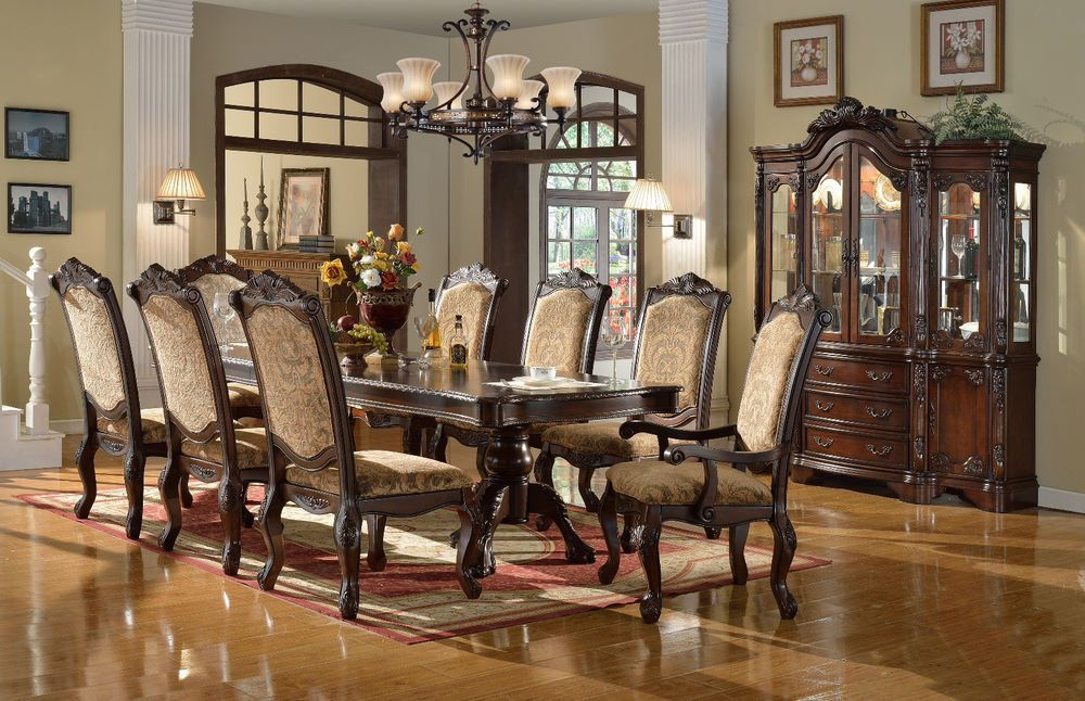 Dining Set Table Fabric Cushion Chairs Room Ebay Used Formal Sets