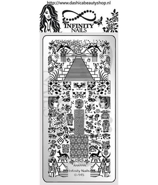 Infinity Nails 145 stamping plate buffet Egypt sphynx cat eye Ra ...