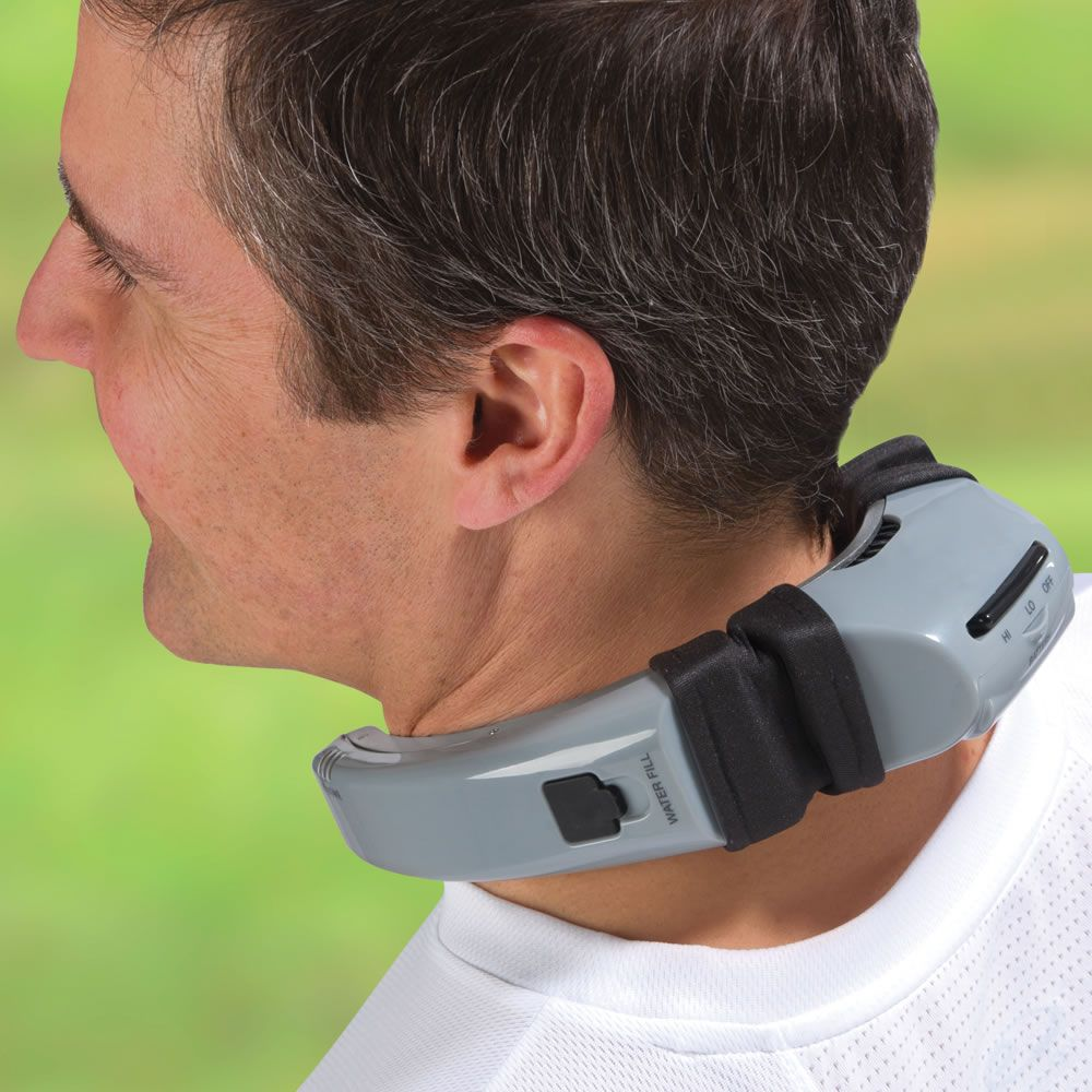 Personal Air Conditioner Neck Embarrassing Person Human