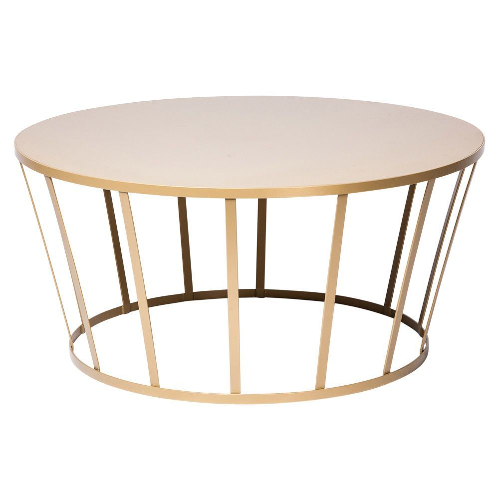 Hollo Round Coffee Table Gold Roundtabledecor Gold Coffee