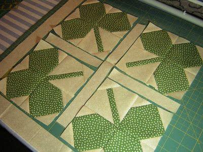 Shamrock quilt, use with four leaf clover quilt block | Quilting ... : clover quilting - Adamdwight.com