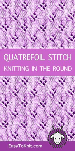 Lace Knitting in the round | Knitting stiches, Knitting ...