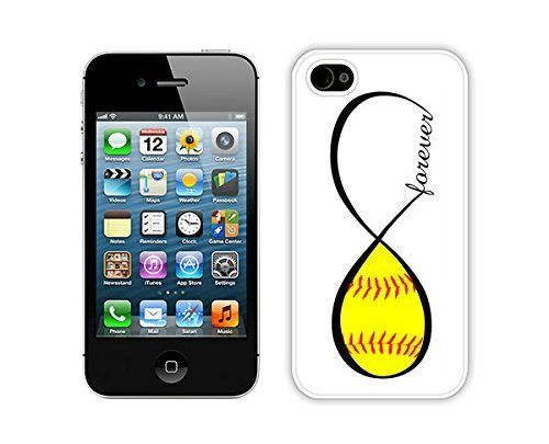 Graceful Apple Iphone 4s Case Durable Soft Silicone TPU Softball Forever Softball Infinity Forever White Mobile Phone Case Cover for Iphone 4, http://www.amazon.com/dp/B00OML071U/ref=cm_sw_r_pi_awdm_RXasub0ZSQP4V