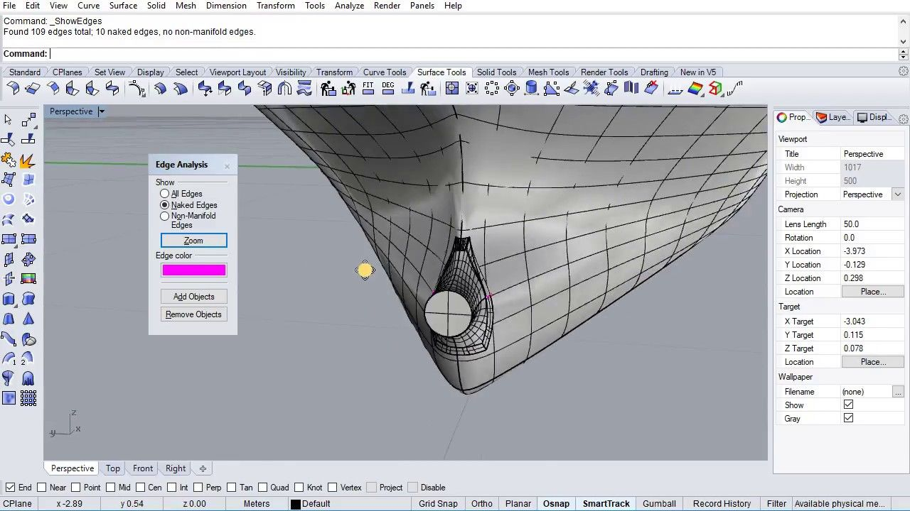 Make a solid (ship hull) from open surfaces (IGES) in Rhino