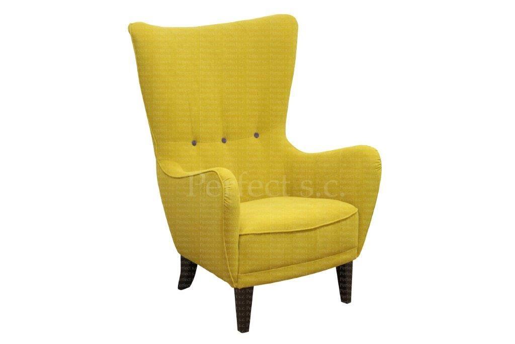 Fotel Uszak Romeo 3 Guziki Tkanina Astoria 5900501707