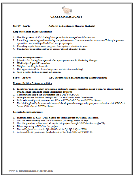 Marketing Resume Sample With Free Download  Marketing Resume Samples