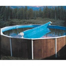 This Odyssey M818 solar cover reel for aboveground pools features frictionfree smooth