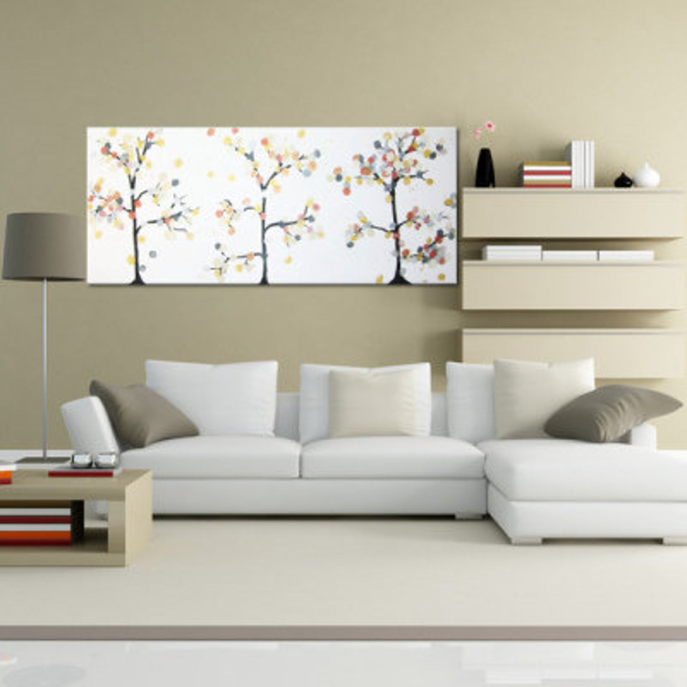 """Modern Glam Living Room Decorating Ideas 19: Above Bed Decor """"Glamour Trees"""" Apartment Decor Fine Art"""