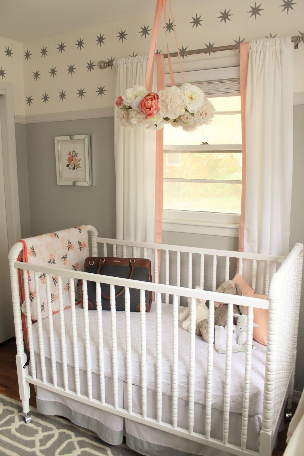 Peach And Gray Nursery Reveal Baby Nursery Decor