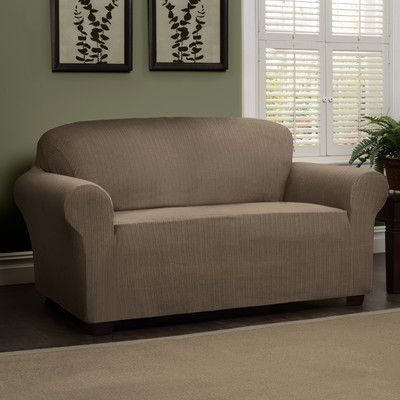 Heather Stripe Stretch Sofa Slipcover