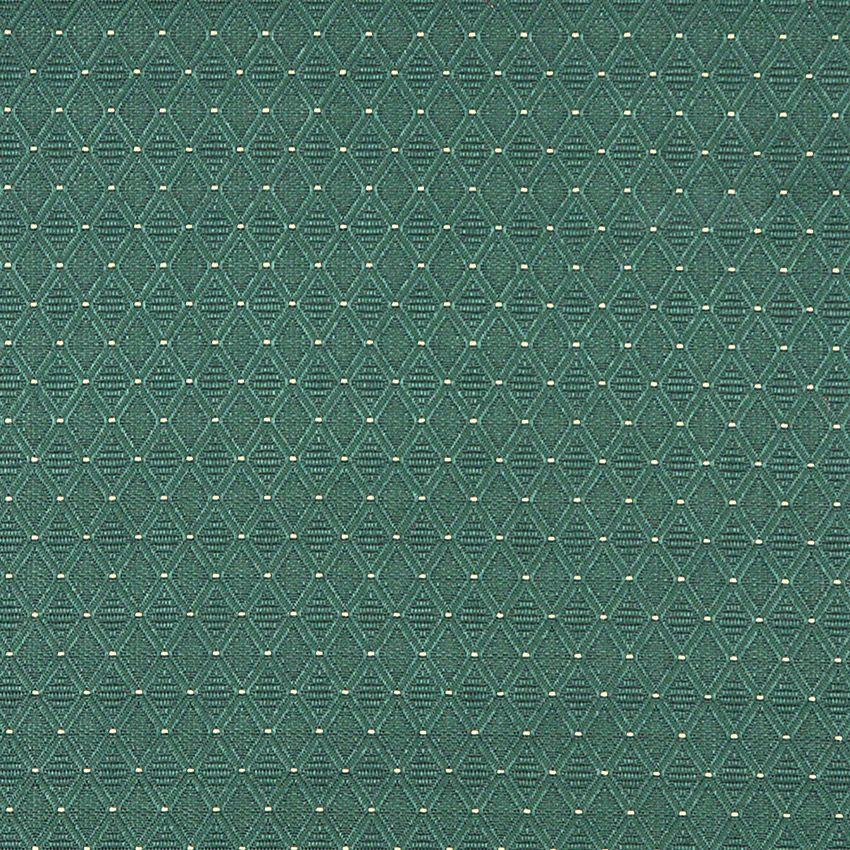 Emerald Green Geometric Diamond Damask Upholstery Fabric