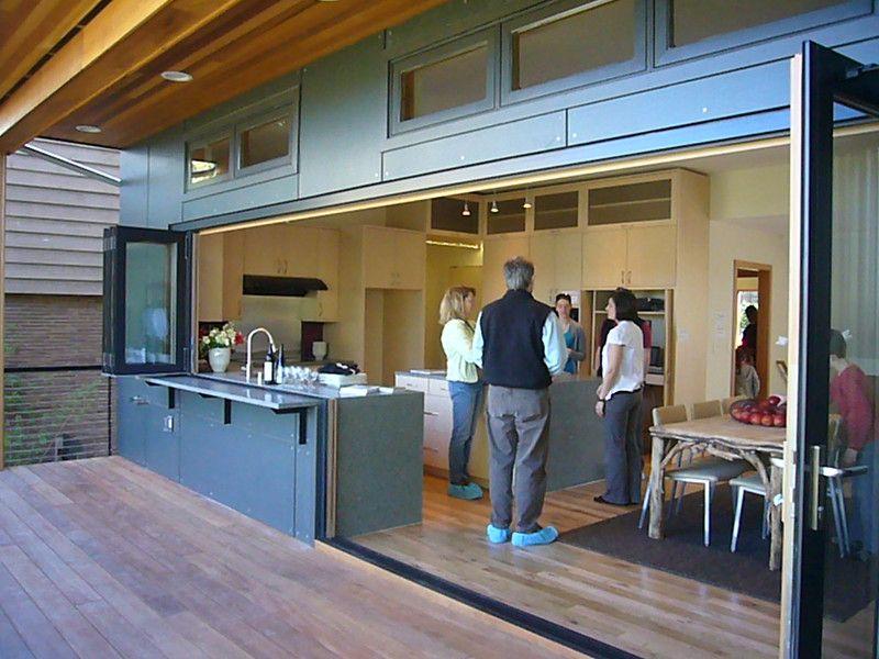 Nanawall In 2020 Indoor Outdoor Kitchen Outdoor Kitchen Design Outdoor Kitchen Bars