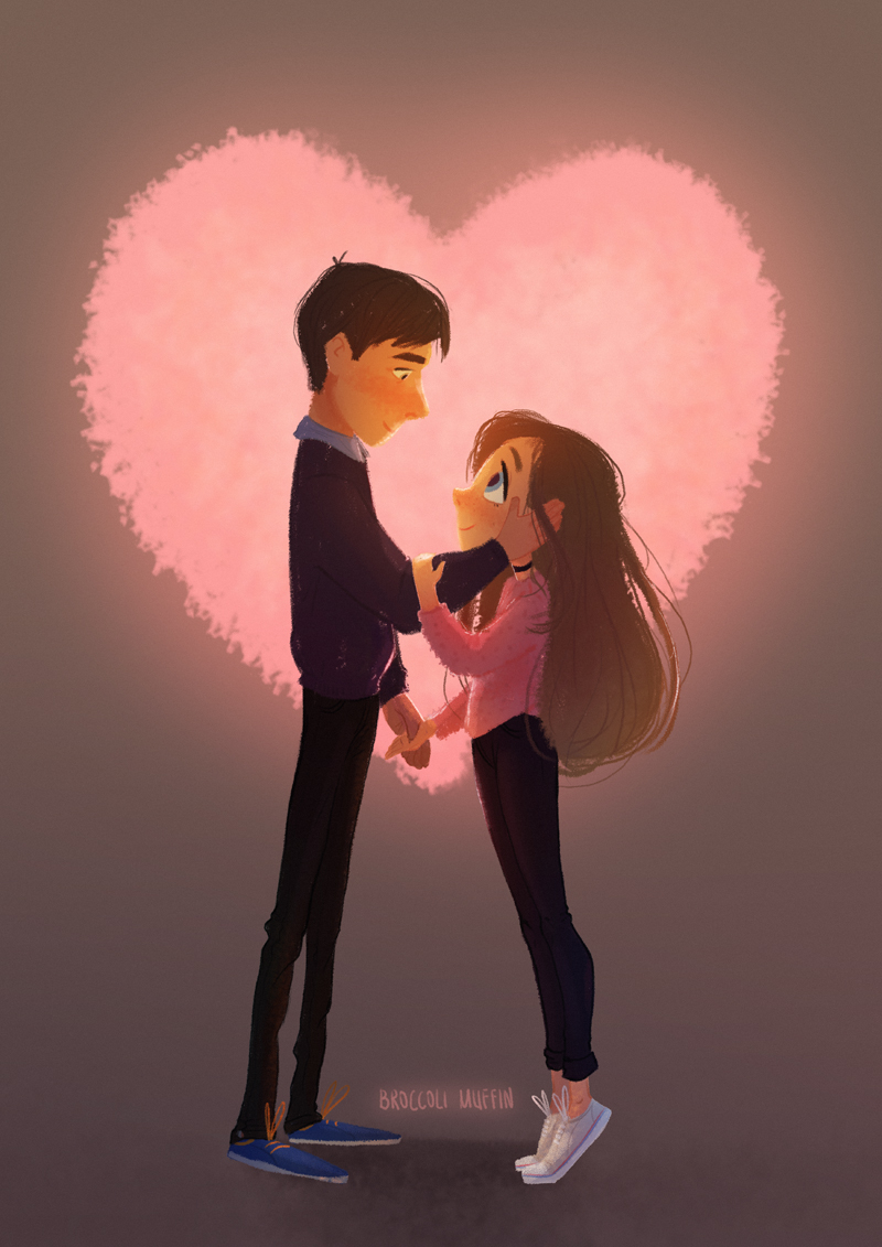 Cartoon Couple Drawing : cartoon, couple, drawing, Something, Small, Boyfriend, Month!, (cheesy, People, Saying, Short, Th…, Animated, Images,, Cartoons, Love,