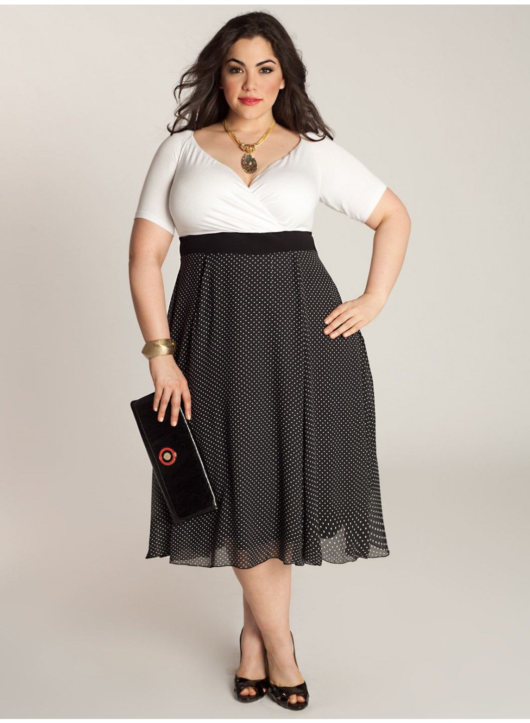 lovely plus size cocktail dresses : vintage polca best plus size