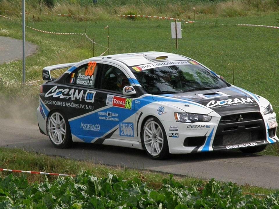 Alexandre Romain Bruno Brissart Evo X Rally Car Evo X Sport