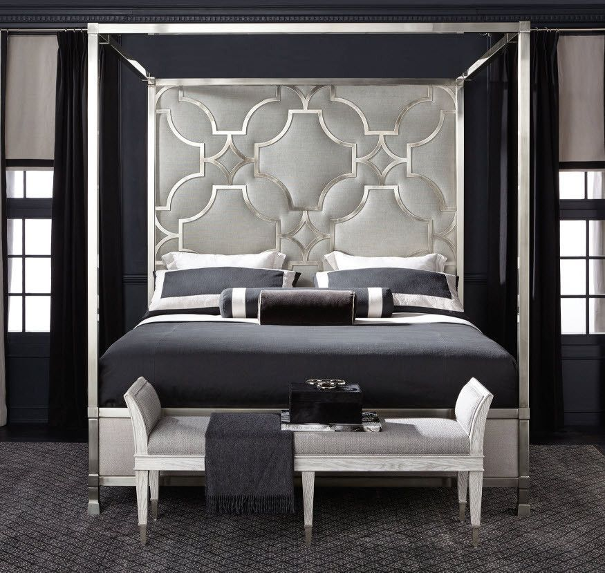 Excellent Domaine Blanc Upholstered Metal Canopy King Bed Bernhardt Download Free Architecture Designs Scobabritishbridgeorg