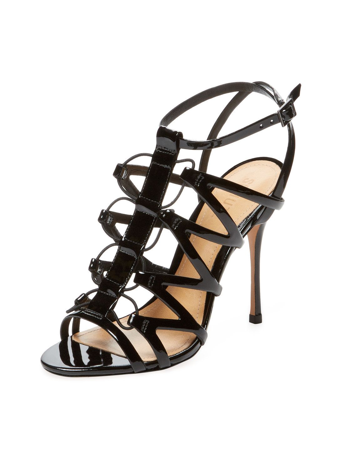 fd78f1088da Floppy Patent Leather Sandal by Schutz at Gilt