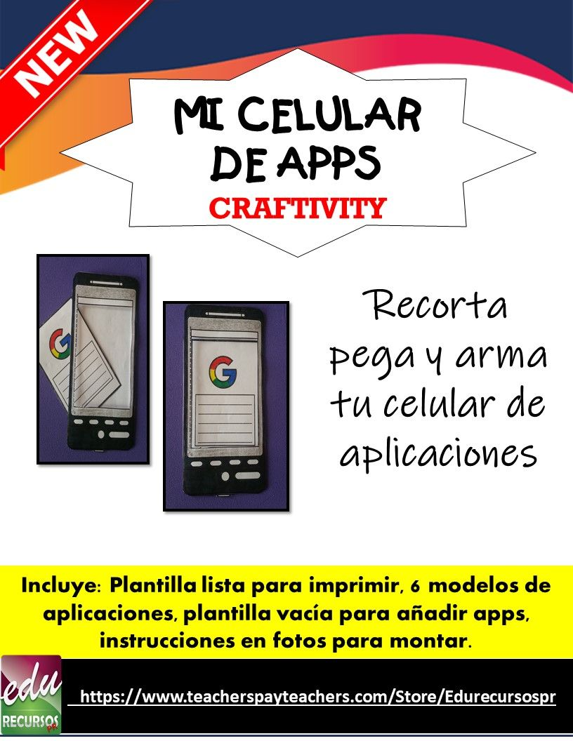 Back To School 2020 Craftivity Mi Celular De Apps Libreta