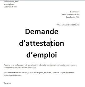 TRAVAIL DE CNAS ATTESTATION TÉLÉCHARGER