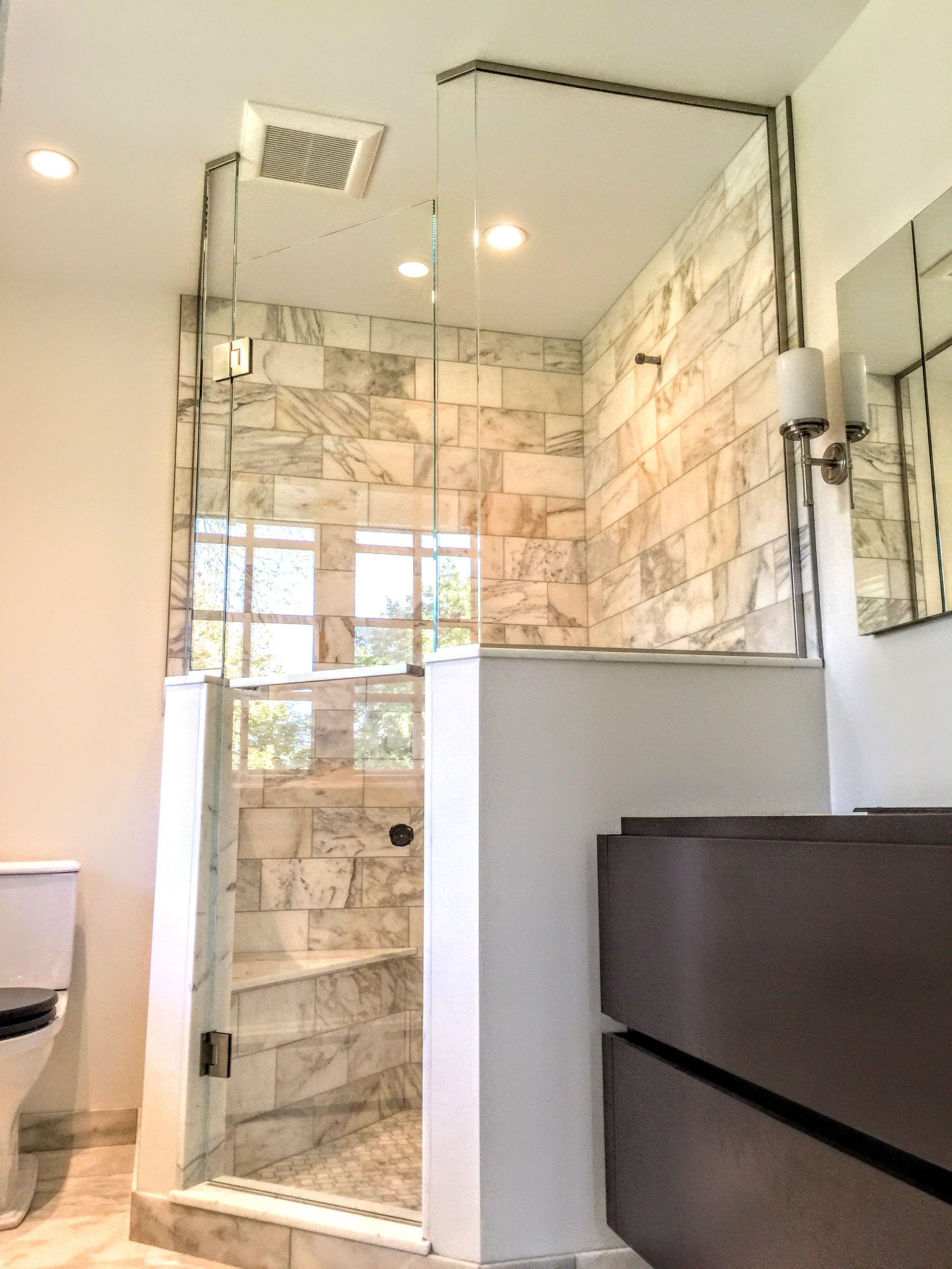 Contemporary condo bath modern bathroom chicago by jill jordan - Custom Glass Shower Using Low Iron Glass To Loose The Green Edge By Uga Custom