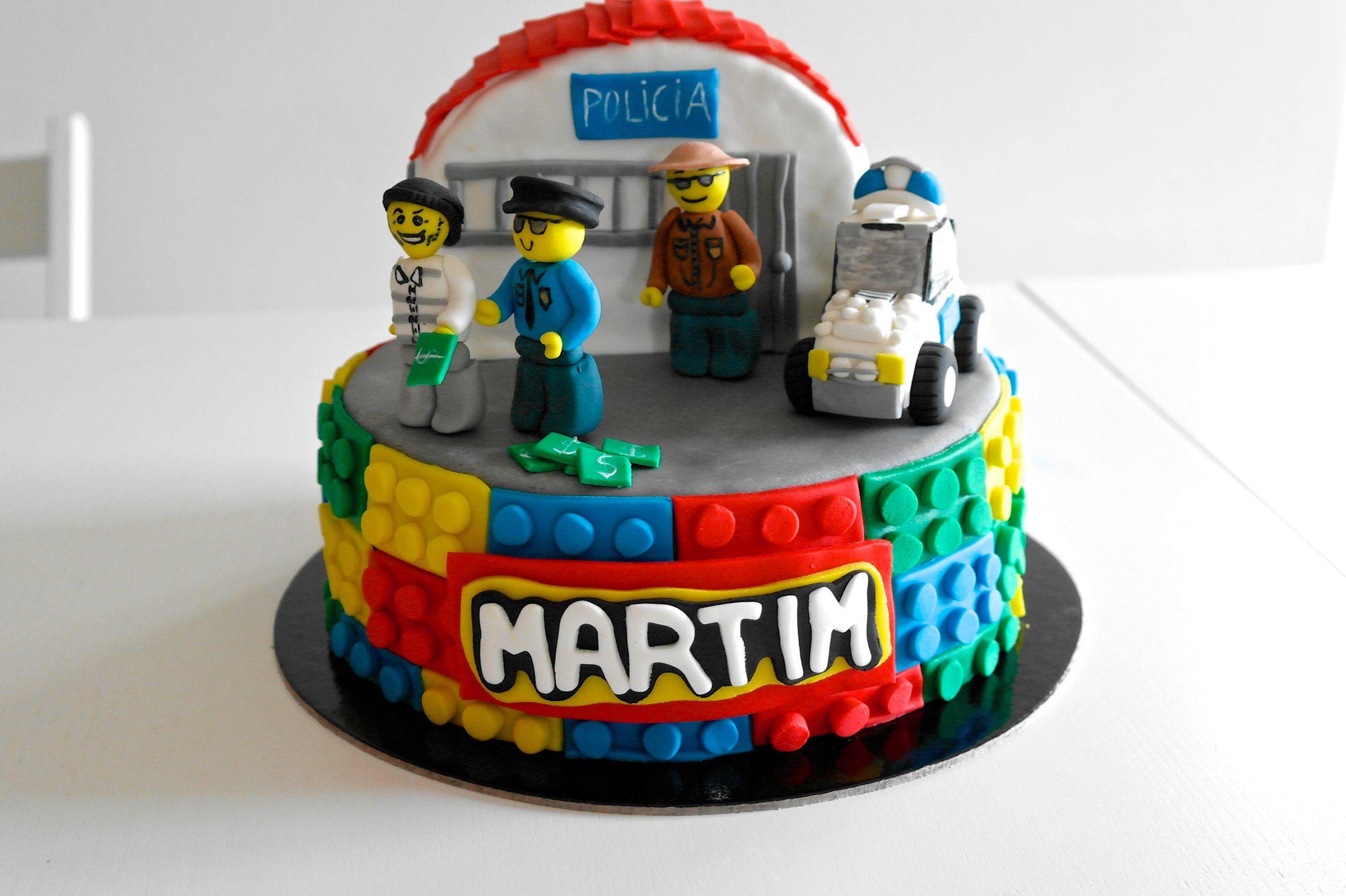 Pin By Joana Vale On My Cakes Lego Cake Police Cakes Cake Design