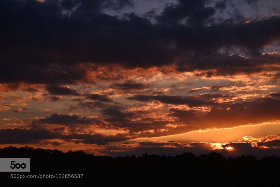 SUNSET OVER MARS PENNSYLVANIA by chucko #landscape #travel