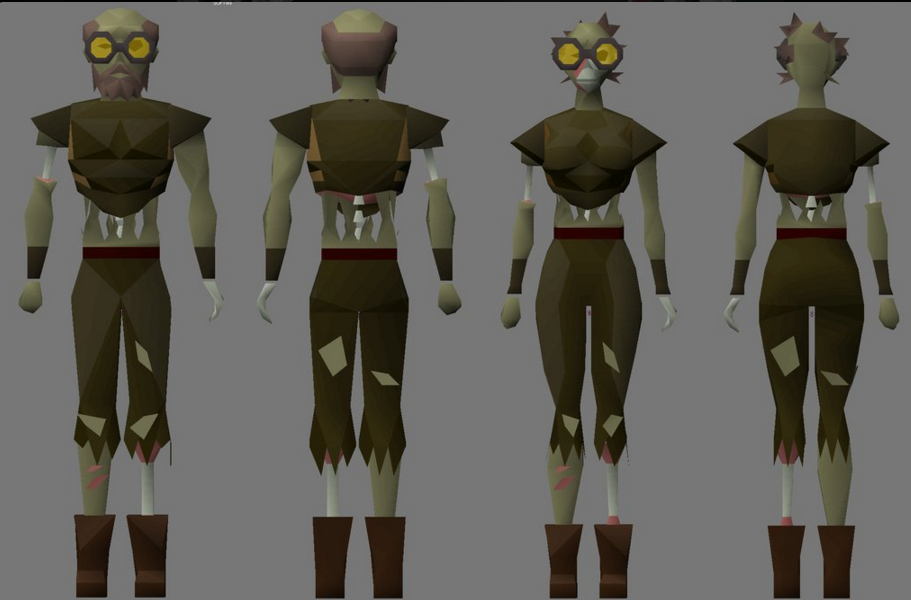 Preview zombie gravedigger player kit used in OSRS Halloween event ...