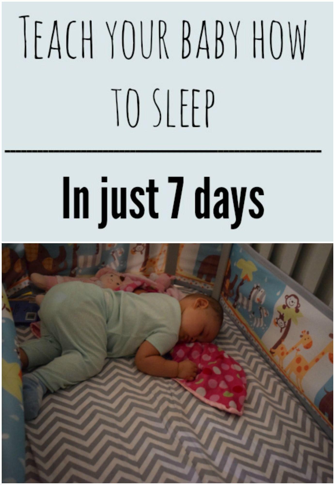 Teach Your Baby How to Sleep {in 7 days