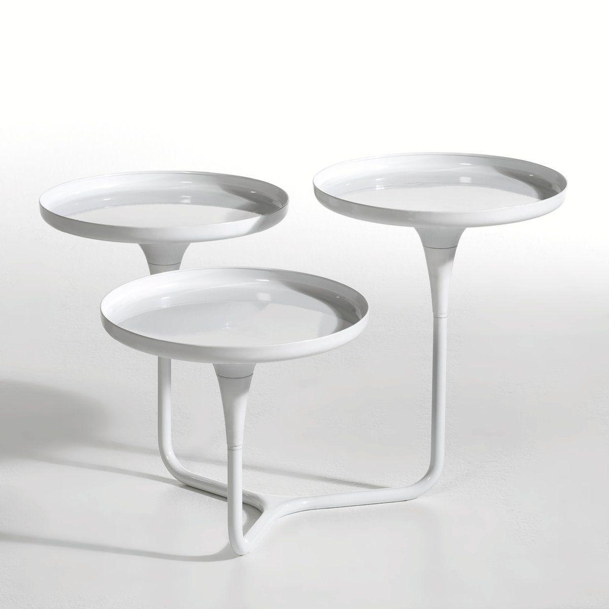 Table Basse 3 Plateaux Mymphea Metal Am Pm La Redoute Table Basse Table Basse La Redoute Bout De Canape