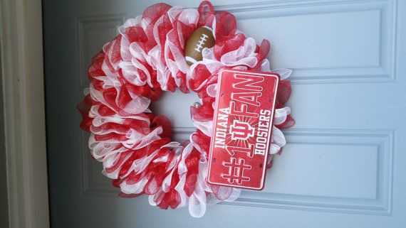 Hey, I found this really awesome Etsy listing at https://www.etsy.com/listing/230045125/indiana-university-wreath