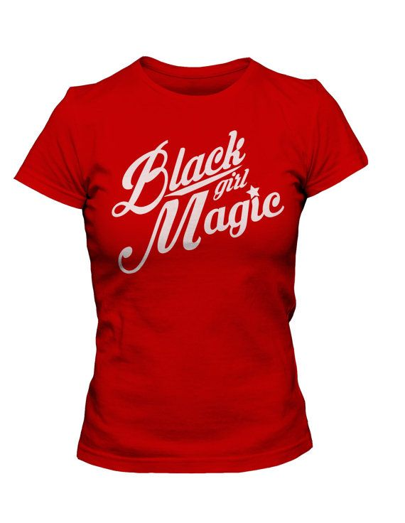 2cba2969 Black Girl Magic in RED by GlamHerTees on Etsy | The Opulence ...