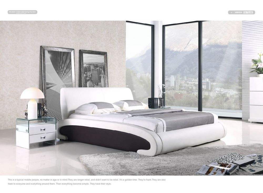 terrific leather bedroom furniture design | Pin by angelina scafdi on bedroom design | Leather bed ...