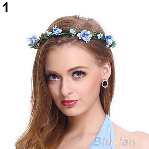 Women Girls Boho Style Floral Flower Hairband Headband Festival Party  Wedding B02 1KVZ 1e2ea920c01