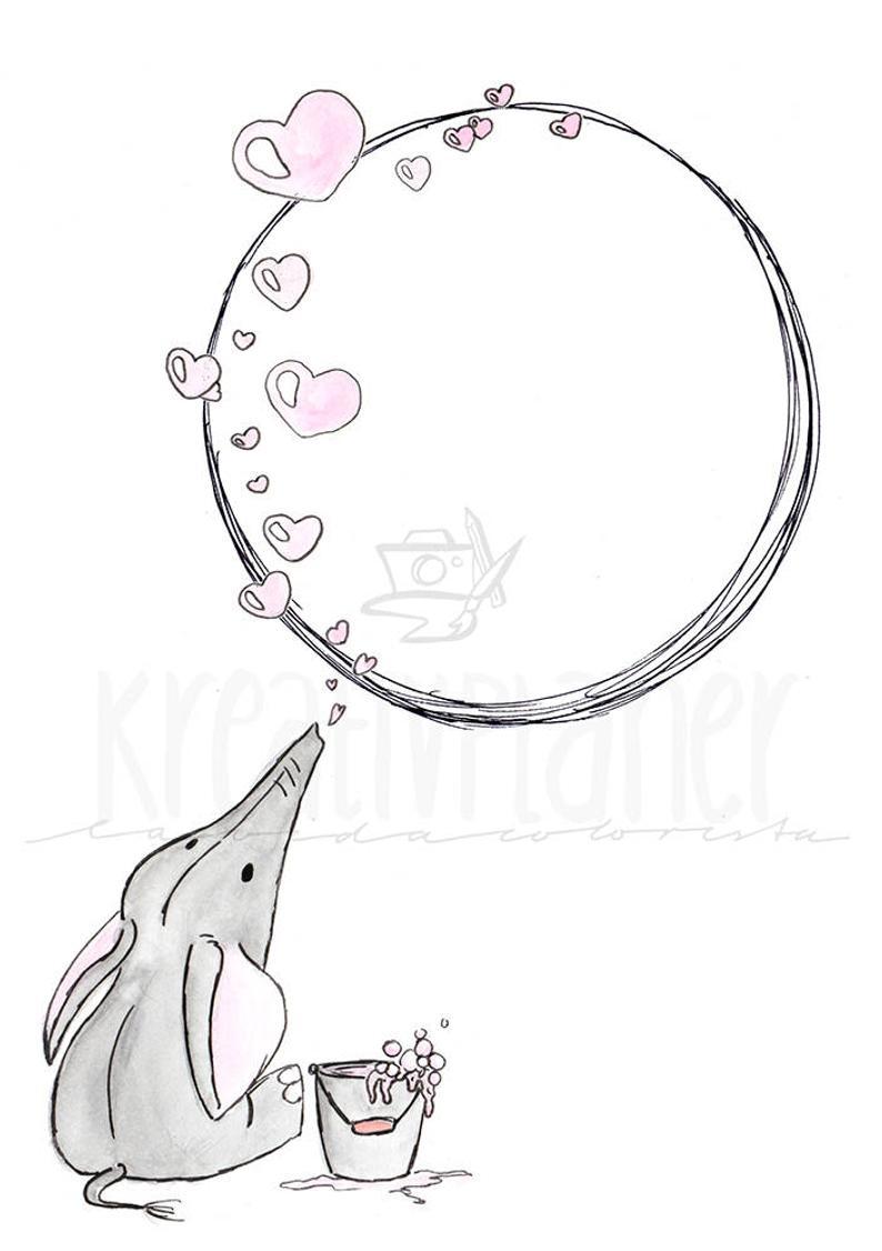 Journal de balle Barany, mise en page du mois, éléphant, Valentin, autocollants, autocollant