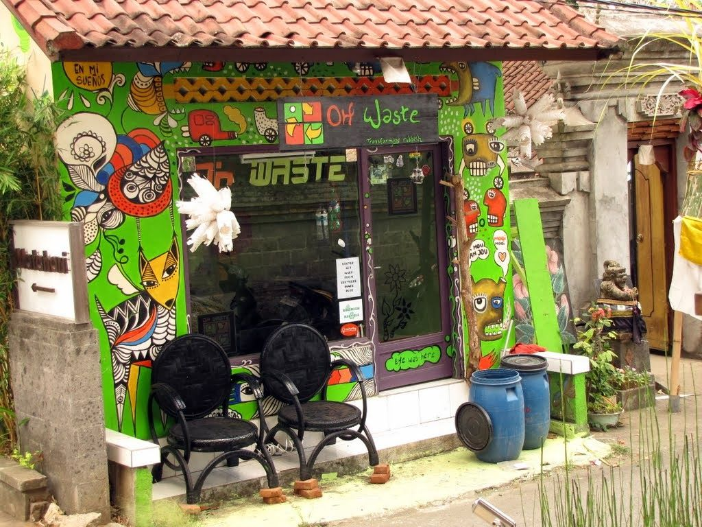 Oh Waste, transforming rubbish on Jalan Jembawan, about 100 meters from the post office in Ubud, Bali. It turns used inner tubes, tyres, old toothbrushes and anything in between into useful and stylish products. #recycle #rethink #Ubud #Bali