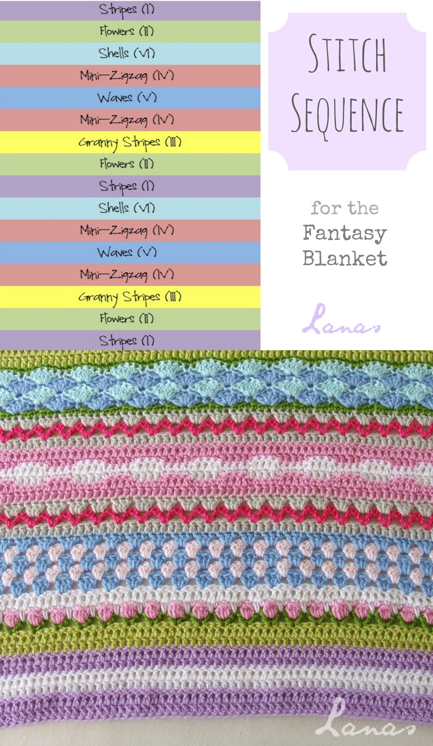 How to :: Fantasy Blanket stitch sequence - Free tutorials for each ...