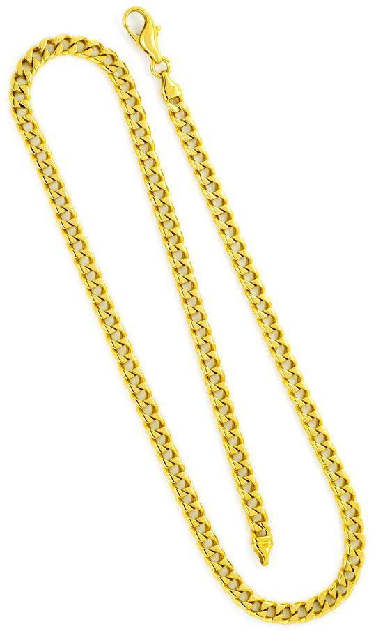 Gold kette eckige glieder