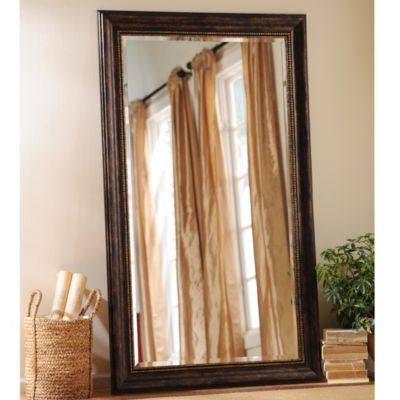 Tortoise Bead Leaner Mirror, 46x76 in | Leaner mirror ... on Floor Mirrors Decorative Kirklands id=30086