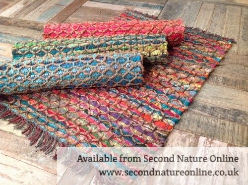 Fair Trade Cotton Jute Braided Rugs 2 Sizes 60 Cm X 90 Cm Or 90cm X 150 Cm 4 Colours Available Green Turquoise Cotton Rag Rug Rag Rug Braided Jute Rug
