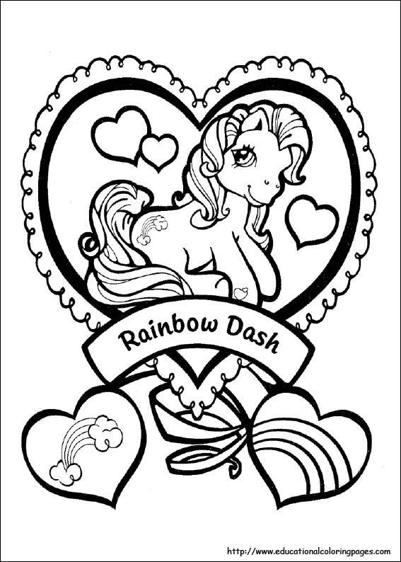Rainbow Dash My Little Pony Coloring Pictures | Ideas for Addison\'s ...