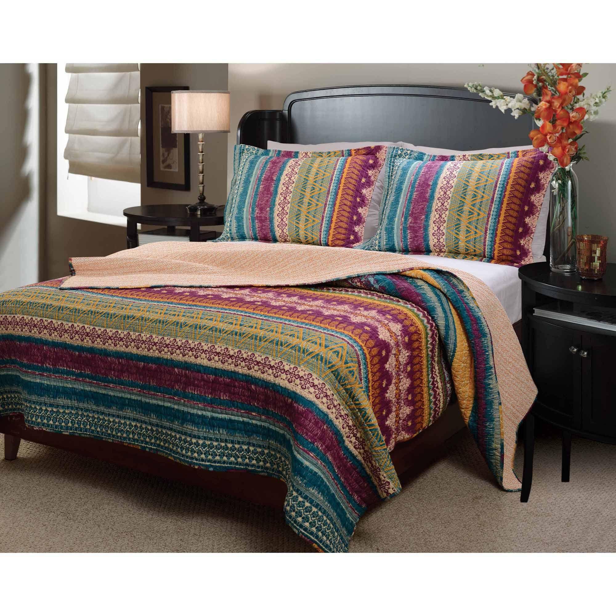 Walmart Bedroom Sets Pleasing Global Trends Santa Fe Bedding Quilt Set  Walmart  Florida Design Ideas