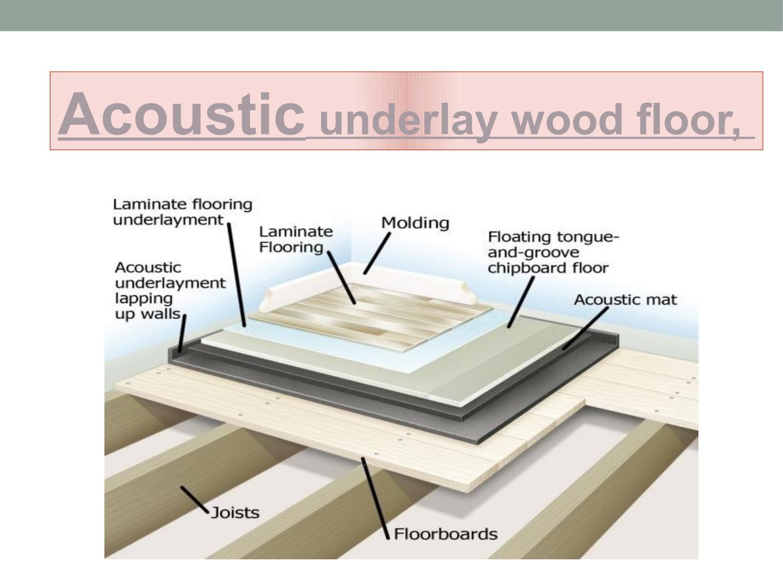 Acoustic Underlay Wood Floor Wood Floors Flooring Underlayment Flooring