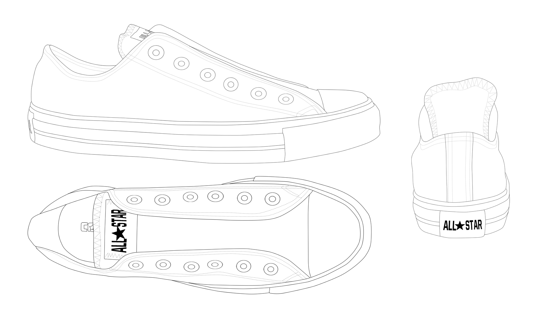 Converse ALL STAR low template by katus