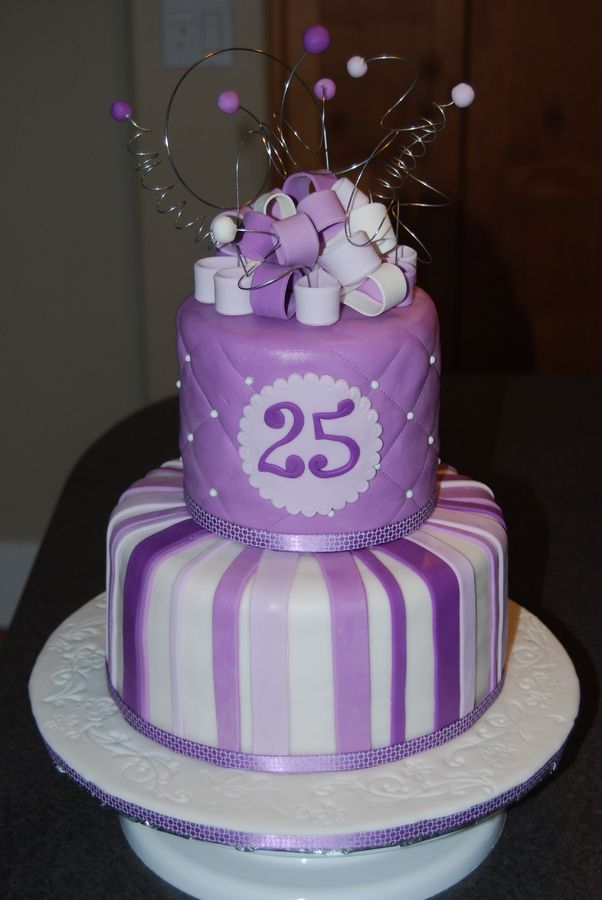 Enjoyable 25Th Birthday Cake 25Th Birthday Cakes 40Th Birthday Cakes Funny Birthday Cards Online Alyptdamsfinfo