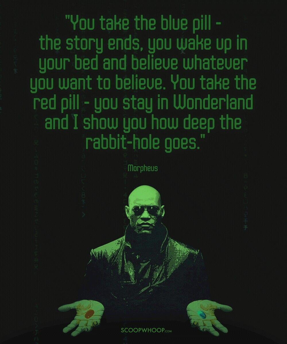 Red Or Blue Pill Matrix Quotes The Matrix Movie Matrix