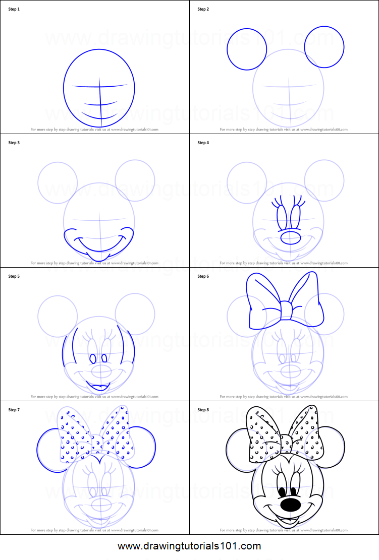Wonderlijk How to Draw Minnie Mouse Face from Mickey Mouse Clubhouse SB-13