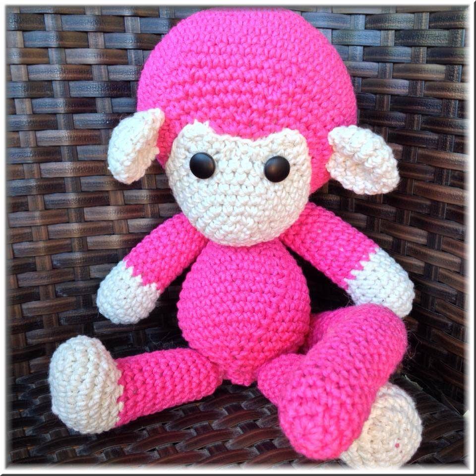Haken toy . crochet - amigurumi mono Johnny the Monkey, el patrón lo ...