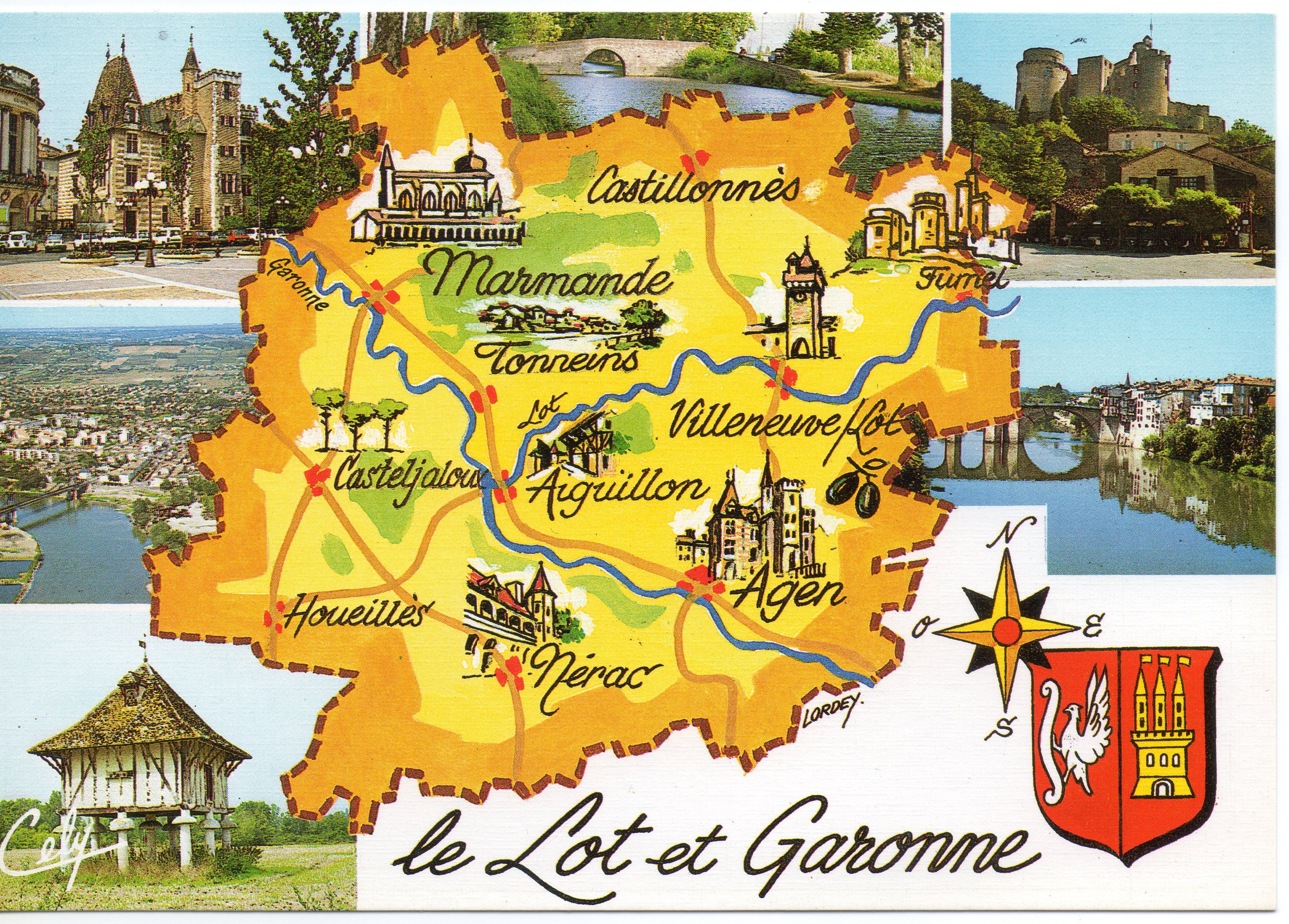Lot Et Garonne Lot Et Garonne Garonne Carte Postale